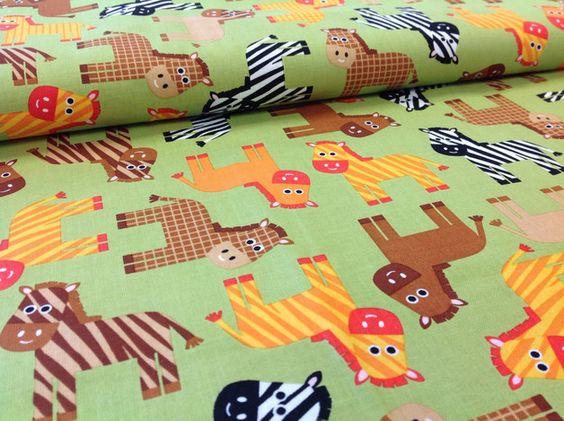 Designerstoffe USA - Baumwolle urban zoologie Zebra - ein Designerstück von Stoffbote bei DaWanda