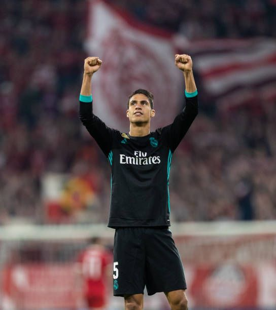 Raphael Varane Of Real Madrid Celebrates After Winning The Uefa Raphael Varane Real Madrid National Football Teams