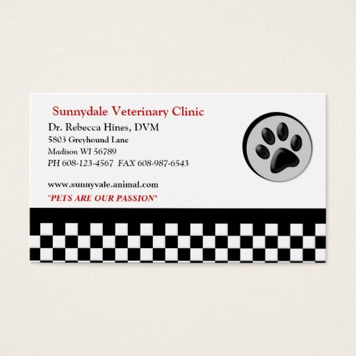 Veterinary Animal Paw Logo Checkerboard Business Card Zazzle Com With Images Paw Logo Cards Veterinary