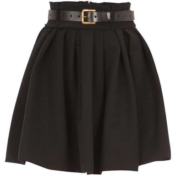 Preen skirts BLACK ❤ liked on Polyvore