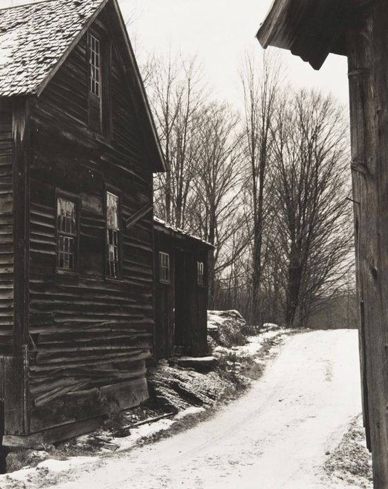 Paul Strand (American, 1890–1976), Road, Winter, Vermont, 1944 (negative) / early to mid-1980s (print), gelatin silver print, 9 5/8 × 7 5/8 inches. Philadelphia Museum of Art, The Paul Strand Collection, partial and promised gift of Marguerite and Gerry Lenfest, 2009-160-816. © Paul Strand Archive/Aperture Foundation