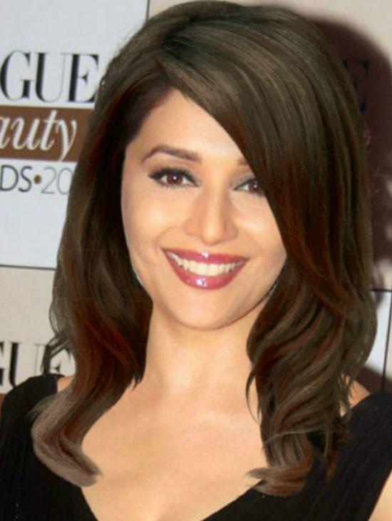 Straight Hairstyles Hairstyle Madhuri Dixit