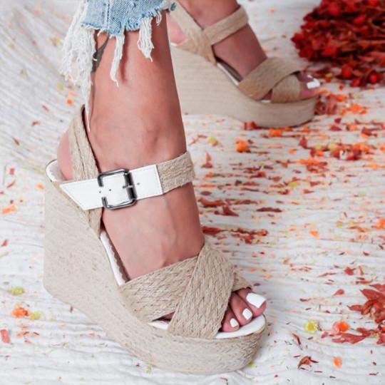 Details about  /Womens Bohemia High Heel Wedge Sandal Platform Open Toe Summes Shoes Ankle Strap