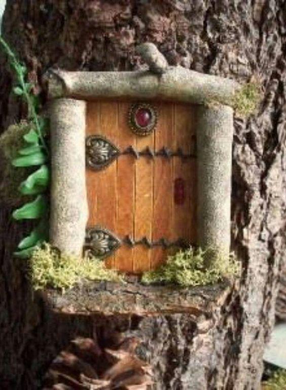 The door fairy garden pinterest the o 39 jays doors for Homemade elf door