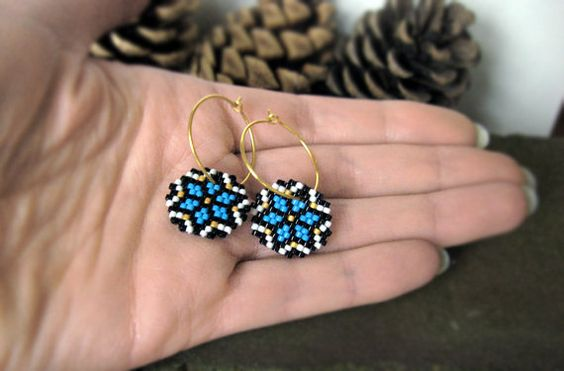 Earrings  Capri Ice Crystals  Capri Blue Black by AmaltheaCph, kr350.00