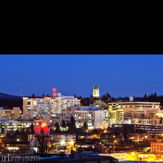 View up South Hill from Downtown Spokane. At the base of Spokane's South Hill is the medical district. Further up the hill you can explore one of Spokane's most beautiful parks, Manito Park.: Cítч Єvєrgrєєn Ѕtαtє Pαcífíc, Favorite Places, Parks Manito, Beautiful Parks, Fabulous Places, Spokane Hometown, Places Spaces, Lílαc Cítч Єvєrgrєєn