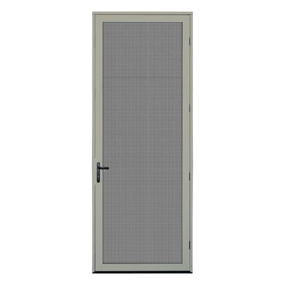 Titan Security Doors Meshtec Single Surface Mount 36x96 Ultimate Security Screen Door Aluminum Screen Doors Security Door Aluminum Screen