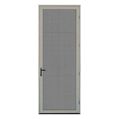 Titan Security Doors Meshtec Single Surface Mount 36x96 Ultimate Security Screen Door Aluminum Screen Doors Security Door Aluminum Screen