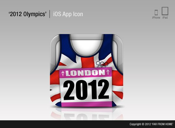 10.18.2012 | 2012 Olympics app by far from home #sporty #animated #clever