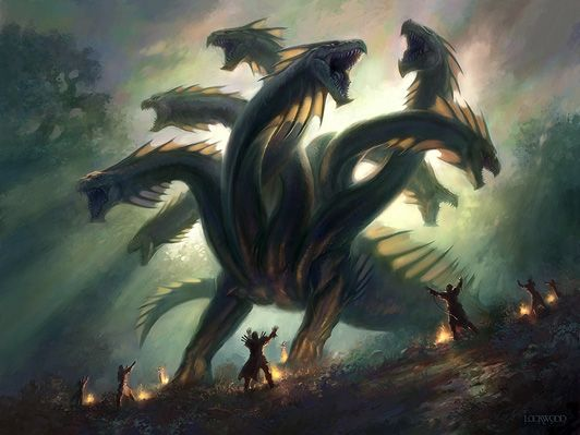 hydra [Khalni Hydra by Todd Lockwood] | Greek | Pinterest | Greek ...