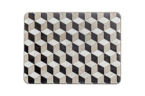 Black White Beige Placemats 4 Set Tablemats Melamine Heat Https Www Amazon Co Uk Dp B079r52l7d Ref Cm Sw R Pi Dp X E Placemats Amazon Handmade White Beige