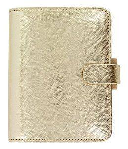 Filofax Pocket Saffiano Gold Special Edition