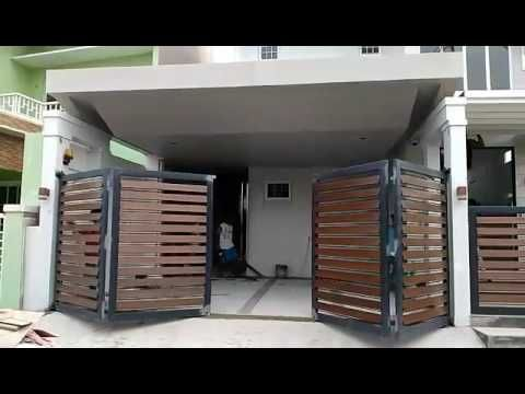 Www Smartmove Ph Sf500 Folding Type Automatic Gate Youtube House Gate Design Home Gate Design Door Gate Design
