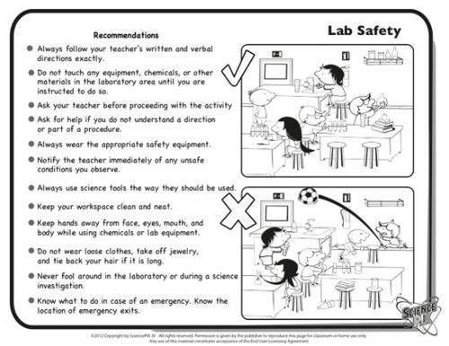 Printables Science Safety Worksheets science printables and worksheets completely bilingual lab safety