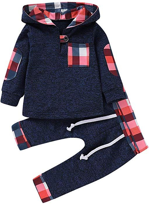 Toddler Clothing Autumn Winter Pullover Sweatshirt Top Pant Clothes Boy Outfit