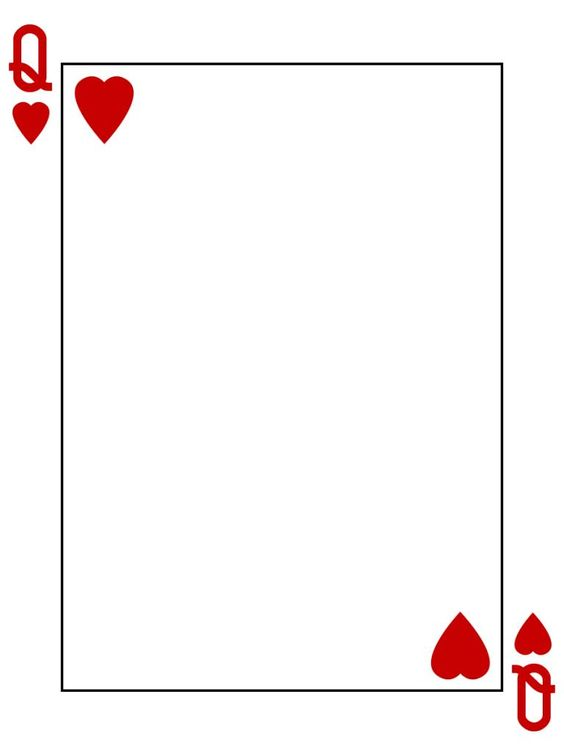 queen of hearts card template - photo #1