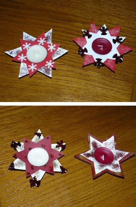 Bougie de Noël - Etoiles  activités manuelles noel  Pinterest ...