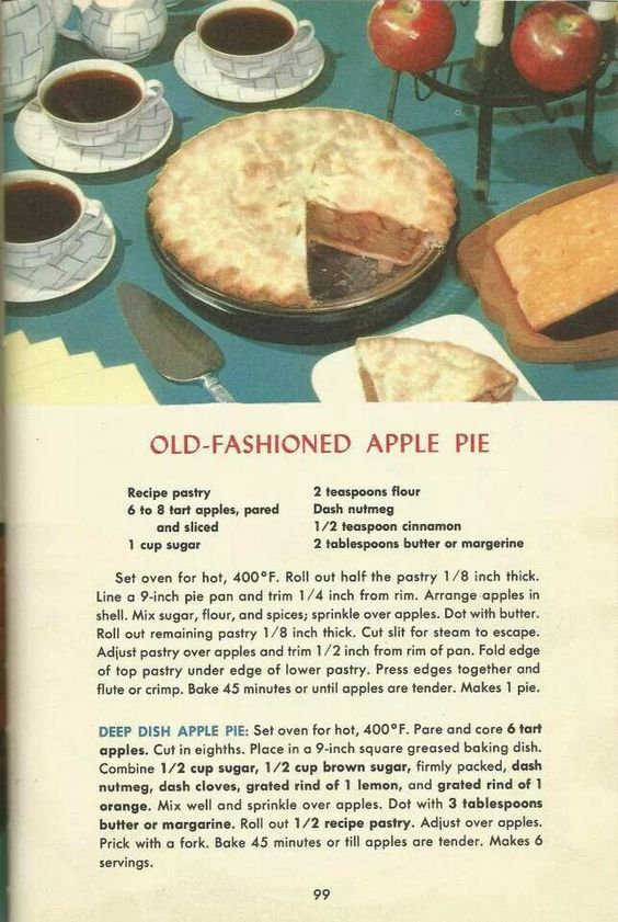 ... recipes 1950s and more pies apples apple pies old fashioned apple pie