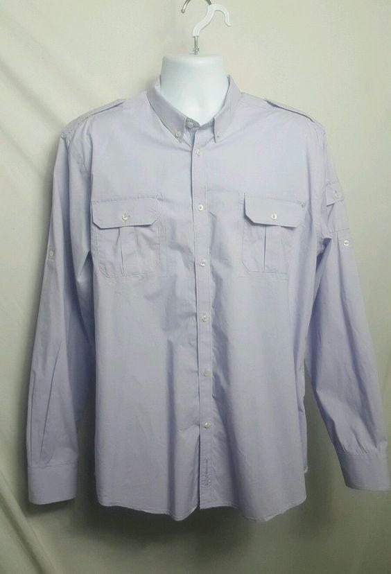 Ben Sherman Mens Dress Shirt XL Button Down Collar Standard Cuffs 100% Cotton