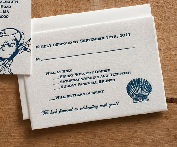 Response Card Wording for Wedding Invitations