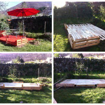 Terrace Made Out Of 22 Recycled Pallets                              …