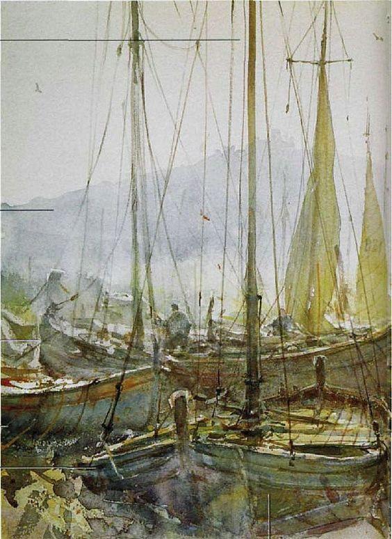 Joseph Zbukvic Watercolor Painting