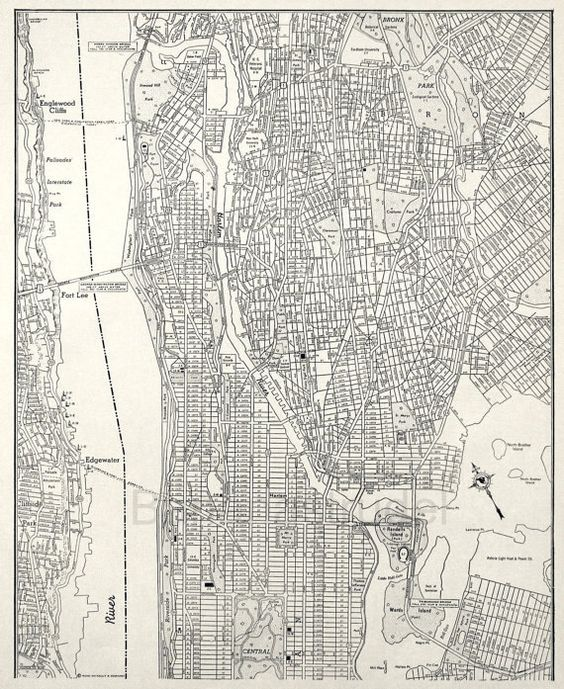 Lower Manhattan vintage 1940s map of lower manhattan jerseycity – Street Map Nyc