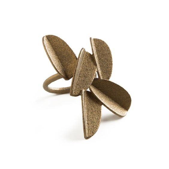 Leaves Ring (Gold Painted)