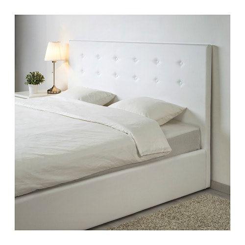 Letto Matrimoniale Con Contenitore Ikea.Gvarv Struttura Letto Con Contenitore Idhult Bianco Idee Ikea