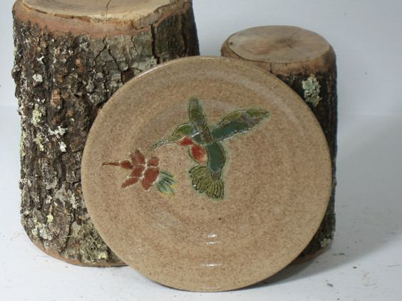 Handmade and hand thrown pottery plate. Home by CoyoteWoodWorks, $19.75
