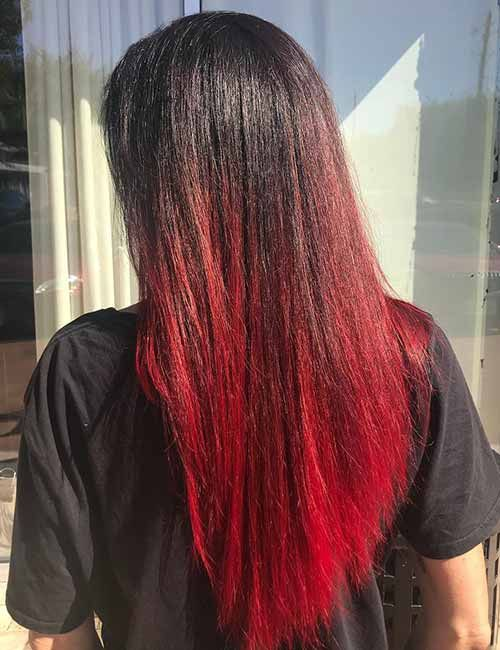 Hair Color Trends For 2018 Red Ombre Hairstyles Red Ombre Hair Hair Styles Ombre Hair Color