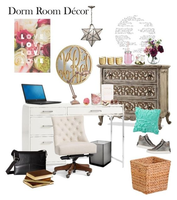 """My dorm"" by stellastar22 ❤ liked on Polyvore featuring interior, interiors, interior design, home, home decor, interior decorating, PBteen, Pottery Barn, Thrive and Jonathan Adler"