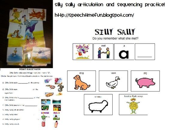 speech time fun silly sally articulation and sequencing activities freebies available silly. Black Bedroom Furniture Sets. Home Design Ideas