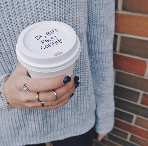 But first... coffee. <3: