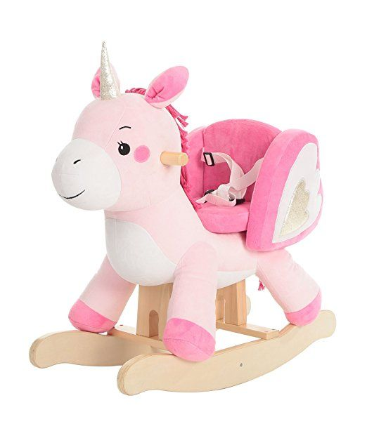 Labebe Child Rocking Horse Toy Pink Rocking Horse Plush Unicorn Rocker Toy For Kid 1 3 Years Stuffed Animal Baby Rocking Horse Rocking Toy Rocking Horse Toy