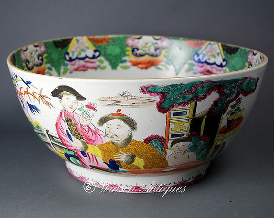 """A Rare Mason's Ironstone China bowl, decorated in the """"Mandarin"""" pattern, having the transfer crown mark in filled in red to the base. Circa 1815 - 1825"""