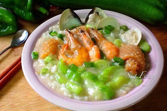 絲瓜海鮮粥