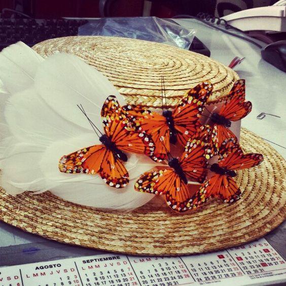 Canotier mariposas
