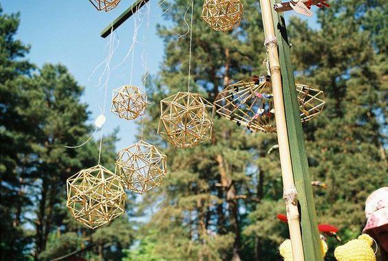 Latvian tradicional straw decorations - Puzurs (by Elina Kalva)