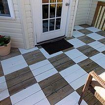 DIY: Checkerboard Painted Deck
