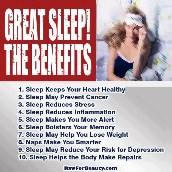 Great Sleep ❥➥❥ The benefits:  1. Sleep keeps your heart healthy  2. Sleep may prevent cancer  3. Sleep... pinned with Pinvolve