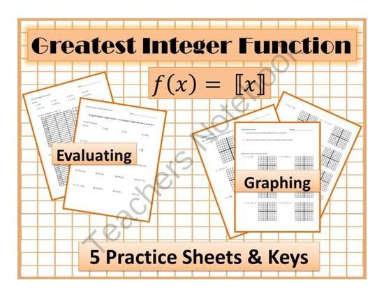 Step Function Greatest Integer Function Worksheet Graphing Evaluating From Carynlovesmath On Teachersnotebook Co Step Function Integers Graphing Worksheets