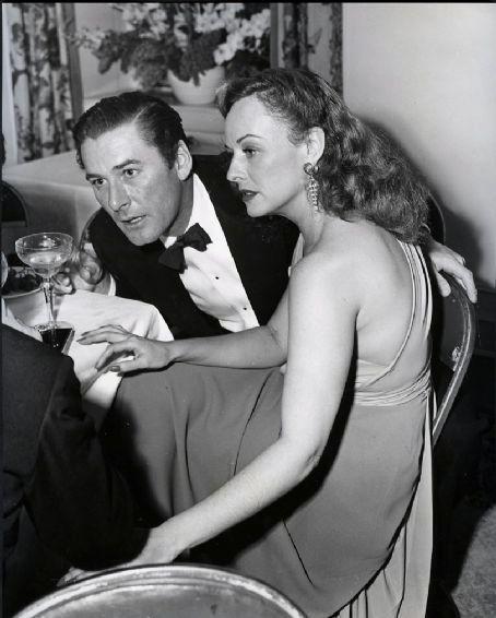 Paulette Goddard and Errol Flynn