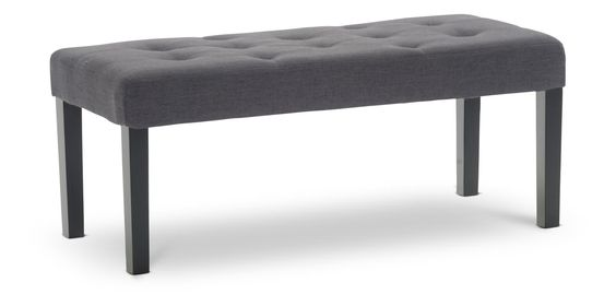 Sierra Upholstered Bench at HOM$70 / $150 stocked Charcoal gray, 6 color & faux leather avail