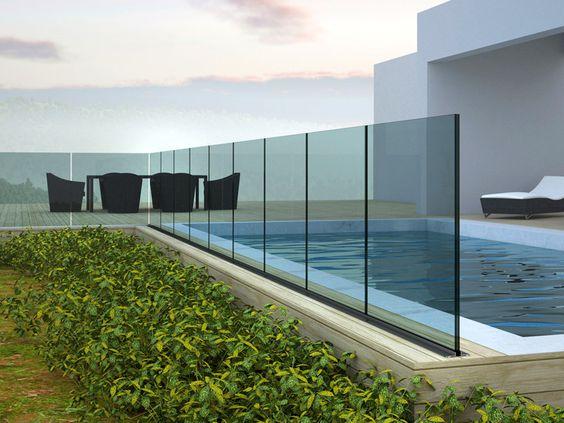 Die besten 25+ Balkongeländer glas Ideen auf Pinterest Geländer - pool mit glaswand garten