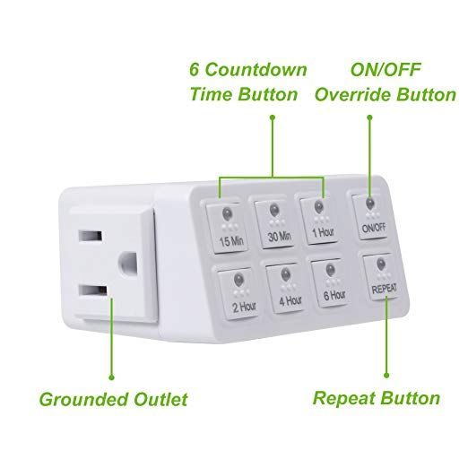 Century Smart Digital Countdown Timer with Repeat Function