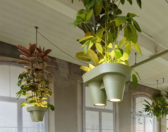 It is amazing the effect even a few office plants can have to a workspace, so I was delighted to see this clever solution from Roderick Vos. The greener, the merrier, I say.