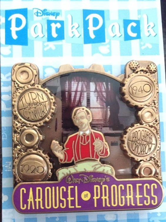 Disney Park Pack Pin Aug 2016 Carousel of Progress Variation 3 #117417 #Disney