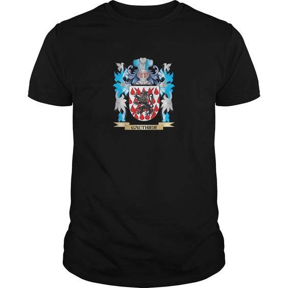 Gauthier Coat of Arms - Family Crest. The perfect gift for your Gauthier. Thank you for visiting my page. Please share with others who would enjoy this shirt. (Related terms: Gauthier,Gauthier coat of arms,Coat or Arms,Family Crest,Tartan,Gauthier su...)
