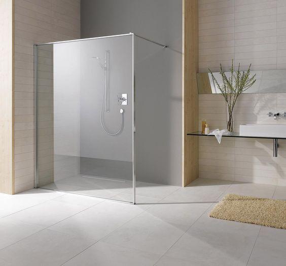 Paroi de douche ouverte en verre leda s550 espace aubade for Aubade paroi de douche
